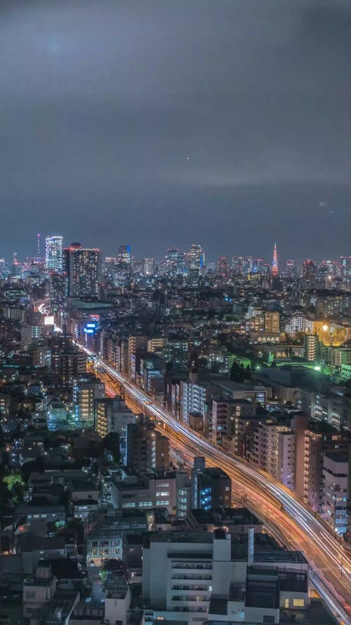 Time-Lapse Video of a City During Nighttime