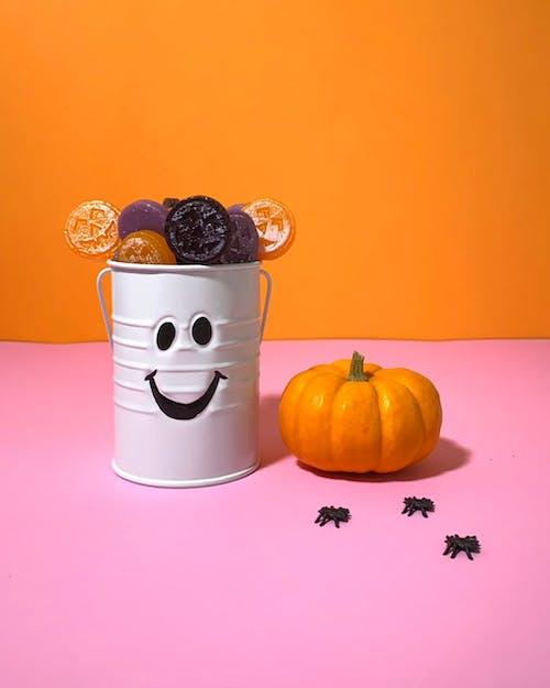 Halloween Candy in Bucket