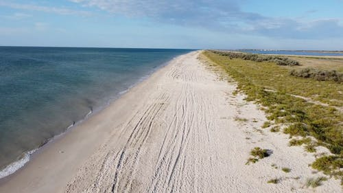Drone Footage Of A Beach Shoreline