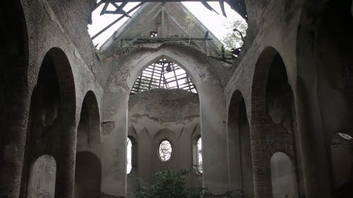 An Abandoned Building Interior