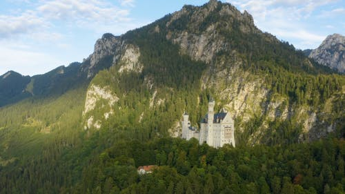 The Ludwig Castle In The Alps Of Germany