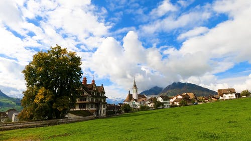An Old Old Town Landscape In Europe