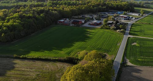 Drone Footage of Agricultural Land During Daytime