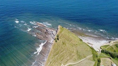 Drone Footage Of A Rocky Coastline
