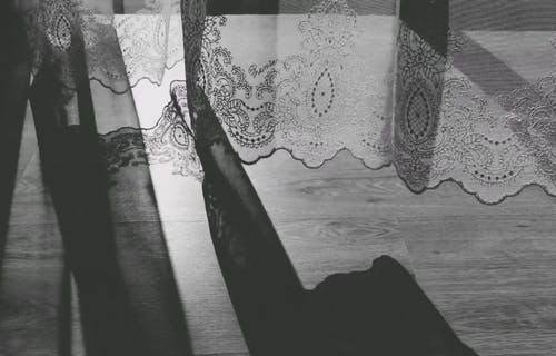 A Curtain With Embroidery Edges