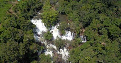 A Rapid River With Waterfalls