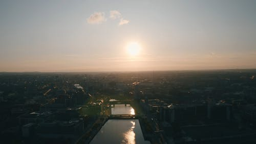 Drone Footage of Cityscape During Daytime