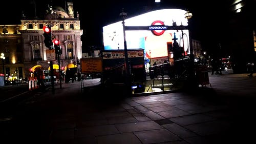 The Underground Entrance In Piccadilly Circus