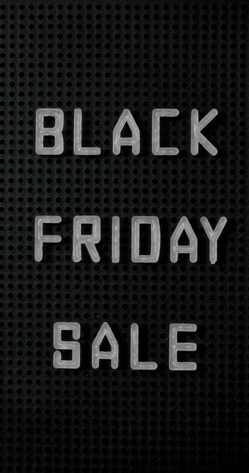 Black Friday Sale Announcement  On The Black Board