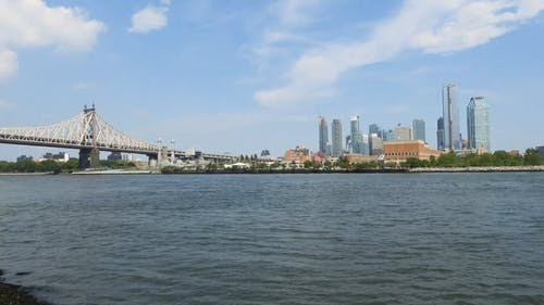 Panoramic View Of Roosevelt Island In New York