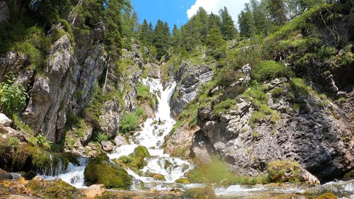 A Panoramic View Of A Waterfalls