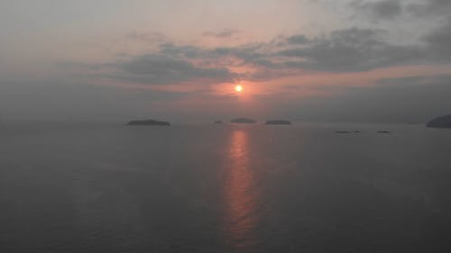 An Aerial Footage of the Ocean