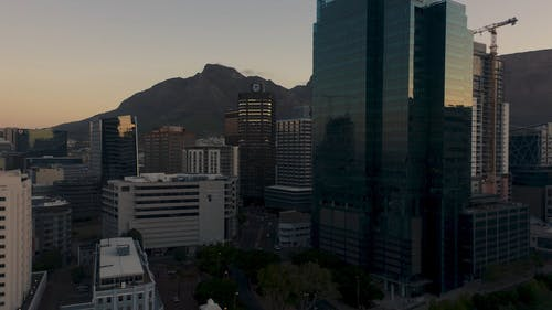 Sunset Behind The Mountains Of Cape Town