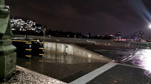 Traffic in London Rainy Night