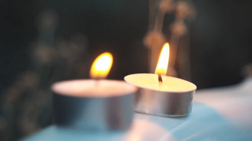 Close Up Video of Lighted Candles