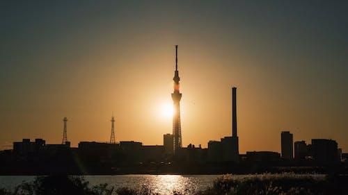 Urban Sunset with Skyline View