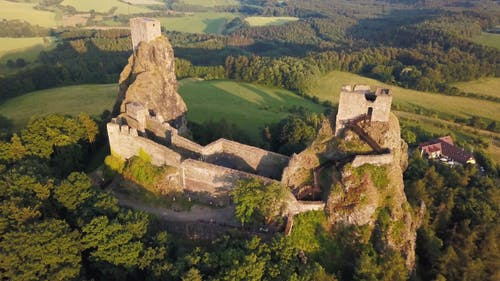 Drone Footage of Ruined Castle