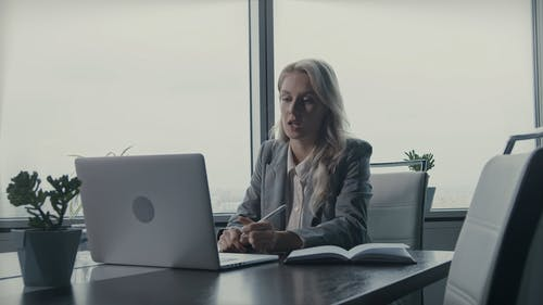 A Female Boss Showing Anger In A Video Call