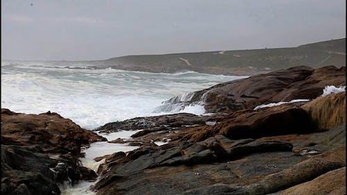 Video of Waves Crashing on Rocks