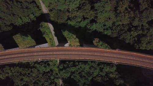 Aerial Footage of a Railroad
