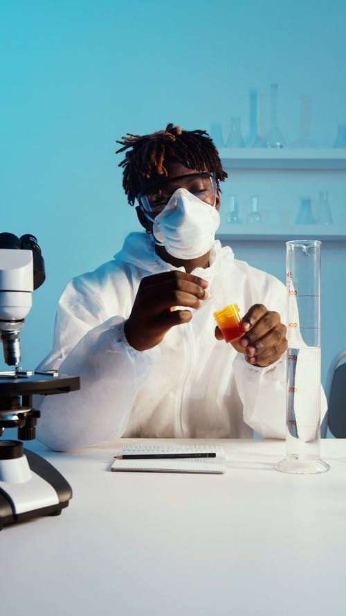 Young Man Working in Laboratory