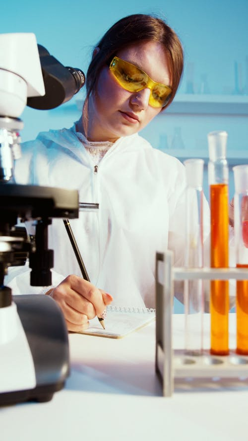 Young Adult Working in a Science Lab