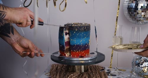 Cutting a Cake in a Party
