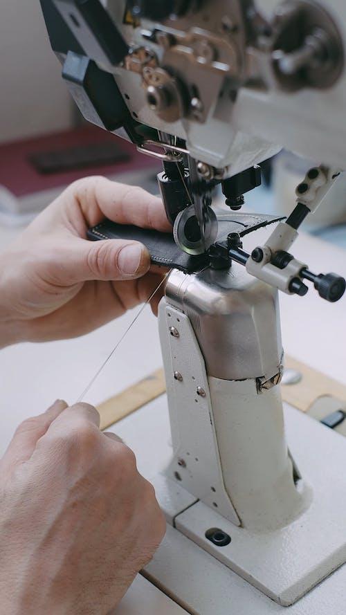 Close Up Video of a Sewing Machine