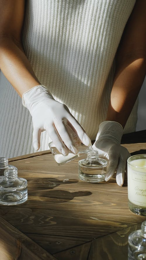 Perfumer Creating a Scent