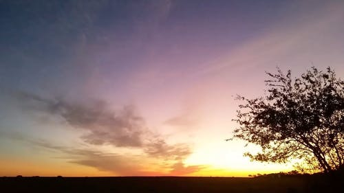 Time Lapse View of Sunrise at the Farmlands