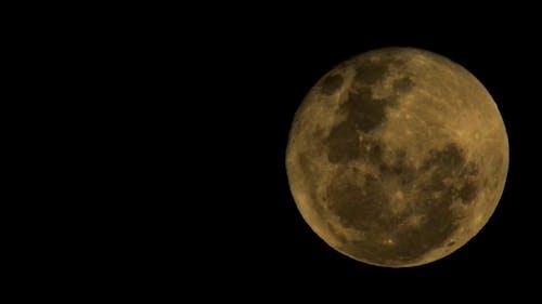 Close Up Shot of a Full Moon