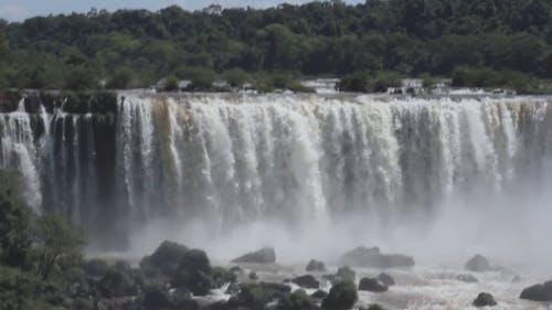 Wide Shot of the Iguazu Falls