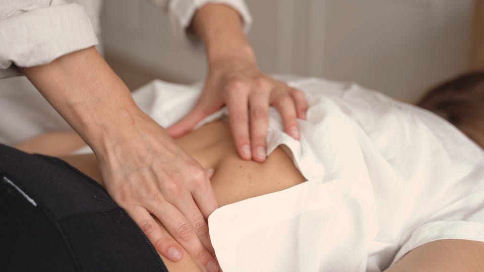 Woman In A Massage Session For Her Back