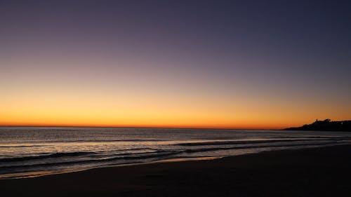 Wide Angle Shot of a Seashore