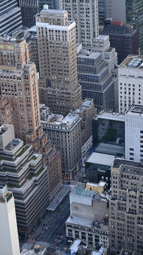 Top View of a Street in Manhattan