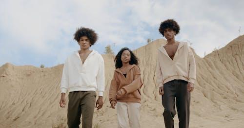 People Walking on the Desert