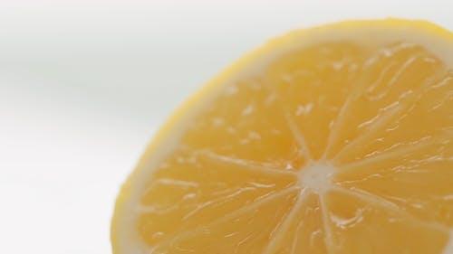 Close Up Shot of a Sliced Lemon