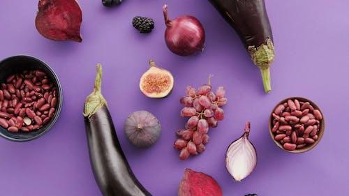 Purple Food on a Purple Table