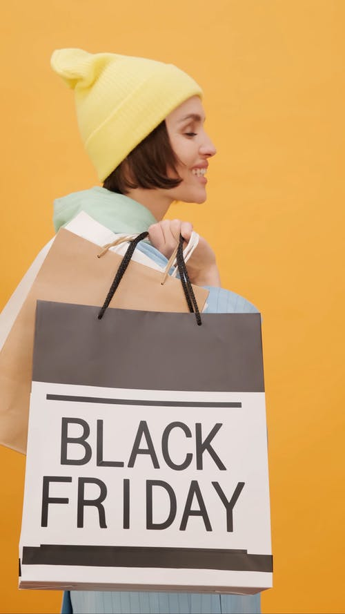 A Woman Shopping Spree On Black Friday