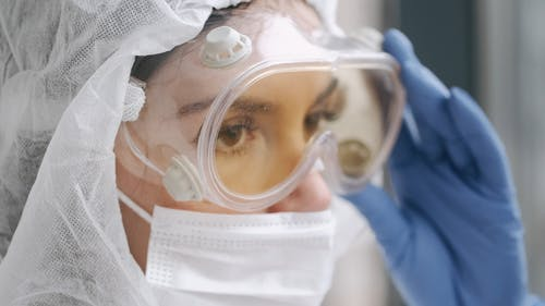 Person Wearing Protective Goggles