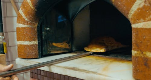 Pizza Calzone from the Oven