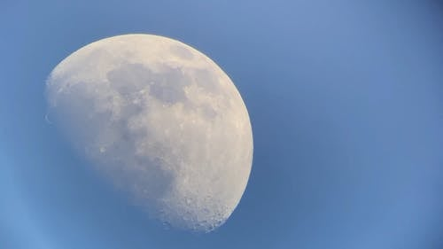 Close Up Video of the Moon