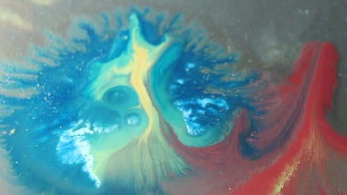 Close Up View of Mixture of Liquid Colors