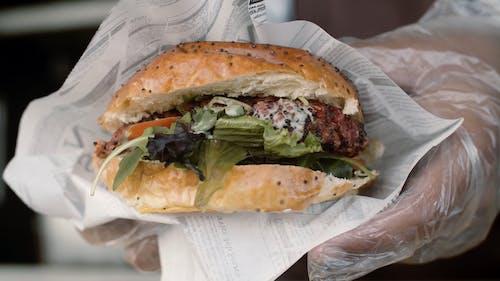 Close-up Shot of a Delicious Hamburger