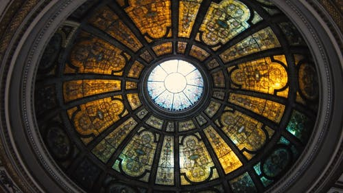 The Stain Glass Dome Of Chicago Cultural Center
