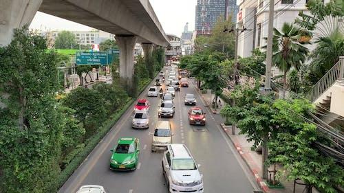 Heavy Traffic In An Urban City