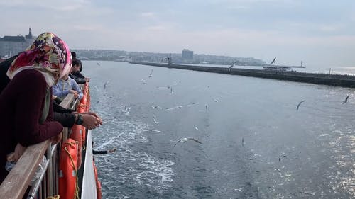 People Travelling on a Ferry Boat