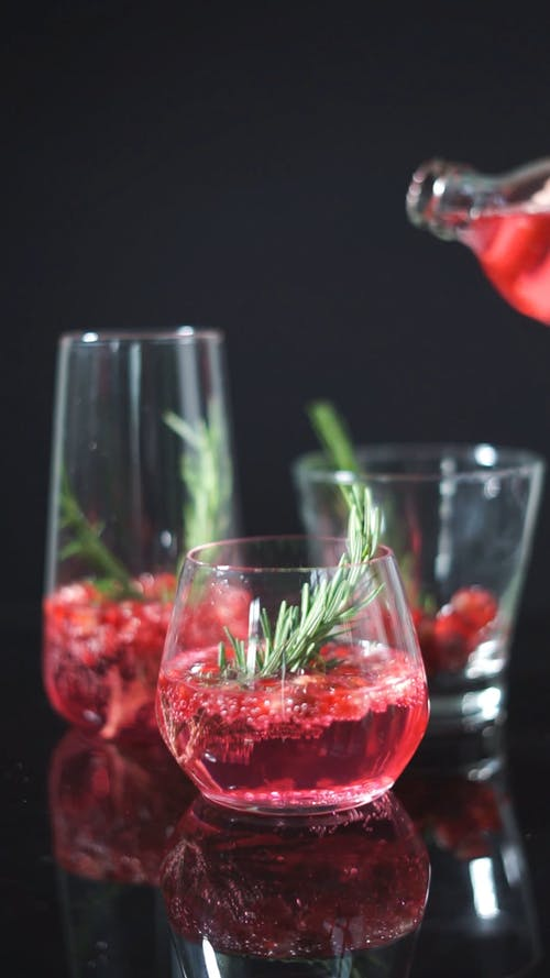 Crushed Strawberries Topped with Liquor