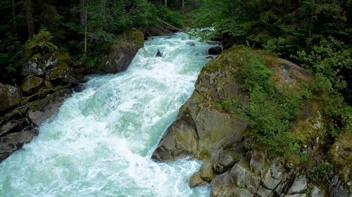 The Strong Current Of A Rapid River