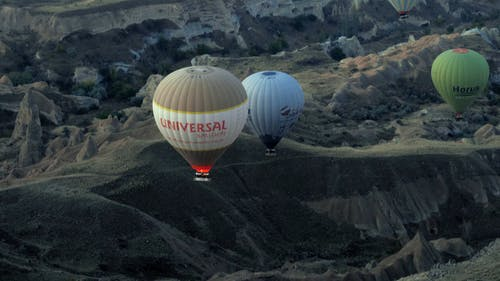 Aerial Footage of Hot Air Balloons